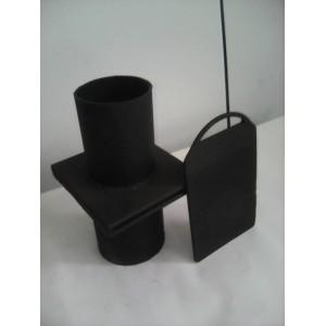 Задвижка стальная на трубу диаметром 89 мм