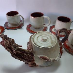 Чайный сервиз керамический Дракон